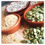 seed cycling, natural hormone therapy, natural hormone balancing, moon cycle, moon phase, pumpkin seeds, sunflower seeds, sesame seeds, flax seeds, seeding, hormone balancing, pre menopausal, menopausal