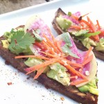 Avocado Toast with Radish and Pickled Carrots