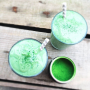 matcha and coconut superfood smoothie