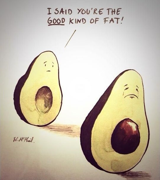 I said the good kind of fat avocado image