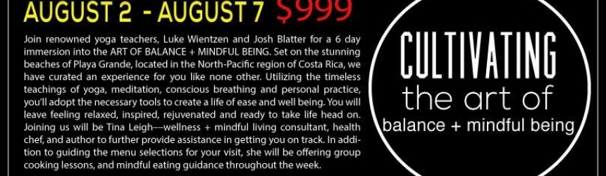 Join Me this August in Costa Rica