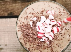 Chocolate Peppermint Candy Shake