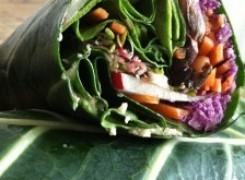 Purple Cauliflower Rice Collard Wrap