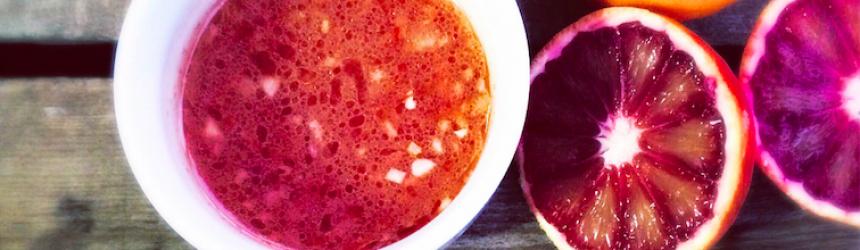 Warm Lentil Salad with Blood Orange Dressing