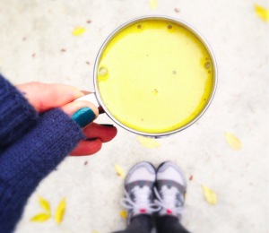 Change can be messy like a turmeric latte explosion