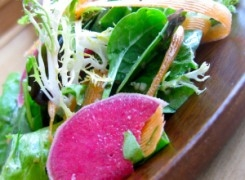 Frisée, Dill, Hemp Seed and Watermelon Radish Salad