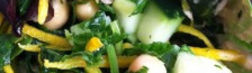Mediterranean Herb Kale Salad Wraps